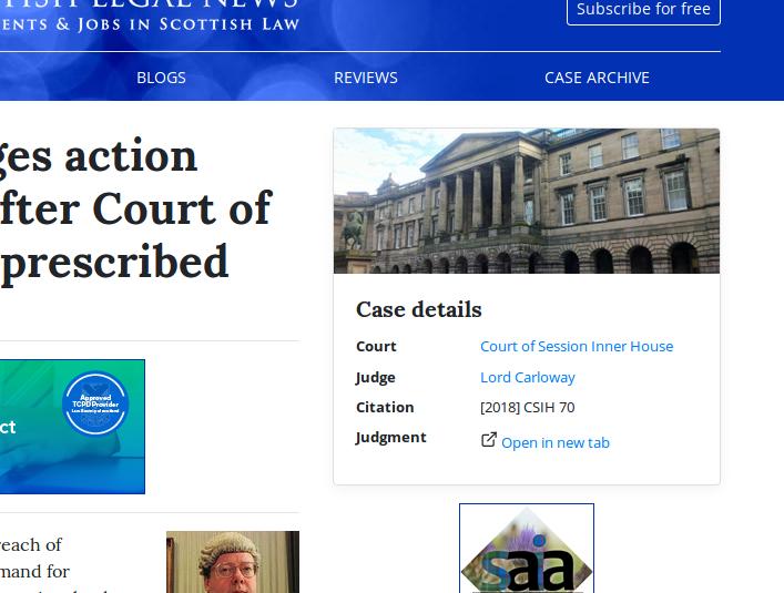 Scottish Legal News